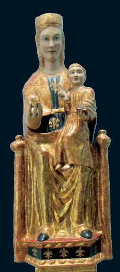 01.009.0266.04080.06235.1125 Virgen de Nuestra Señora del Monte Medieval Art, Romanesque, Our Lady, Image Shows, Art Techniques, Les Oeuvres, Madonna, Renaissance, Marie