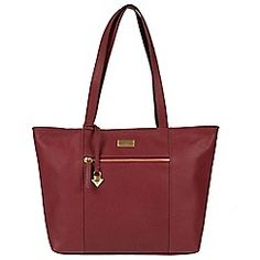 1e7c27d39747d Cultured London - Ruby red  Daphne  leather bag Red S
