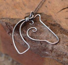 Pferd-Halskette. Sterling Silber. von Karismabykarajewelry auf Etsy