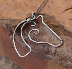 Horse Necklace. Sterling Silver. Oxidized. by Karismabykarajewelry