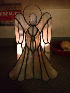 Handmade 3D Stained Glass Angel by BeaverFallsGlassWood on Etsy
