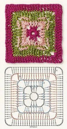 A Squares Square Crochet