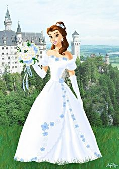 First I did Belle as a bride. Which Disney princess should I do next as a bride? (I only want to do those who didn't get their wedding dress. Aurora the bride Princesses Disney Belle, Disney Princess Belle, Disney Princess Pictures, Disney Fan Art, Disney Love, Image Princesse Disney, Walt Disney Characters, Belle Beauty And The Beast, Modern Disney