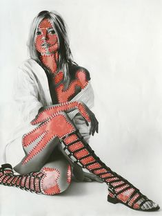 Inge Jacobsen is an artist working with found commercial imagery and embroidery. Fashion, photographs and paper are the main source of inspiration. Human Figure Artists, A Level Art Sketchbook, Sketchbook Ideas, Body Image Art, Baby Fan, Paper Quilt, Body Figure, Sewing Art, Anatomy Art