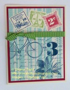 Postage Due... Stamped DSP by sharonstamps - Cards and Paper Crafts at Splitcoaststampers