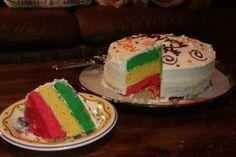Jamaican Flag Birthday Cake Recipe - Window on the World Jamaican Desserts, Jamaican Recipes, Cupcake Birthday Cake, Cupcake Cakes, Caribbean Recipes, Caribbean Food, Caribbean Cruise, Cake Varieties, Specialty Cakes