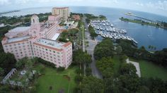 The Vinoy Renaissance Resort, St Petersburg, Florida, shot by Aerial Photographers Celebrations of Tampa Bay http://celebrationsoftampabay.com/aerial-video-tampa/