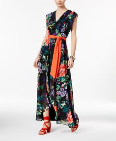 INC International Concepts Printed High-Low Maxi Dress, Only at Macy's - Dresses - Women - Macy's