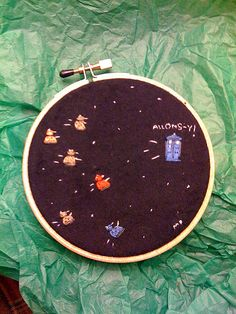 Ah so cute embroidery doctor who