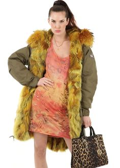 Urban Parka Fur Gables gelb: WE LOVE PARKA, Germany