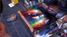 Amazing Spray Paint Art in Time Square / Street Painting Artists - Tibba
