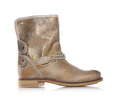 TWIN-SET - Goldene Stiefel, Mädchen, Kind,Damen - http://on-line-kaufen.de/twin-set/twin-set-goldene-stiefel-maedchen-kind-damen