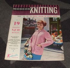 assorted books for sale. MACHINE KNITTING MAGAZINE - MODERN KNITTING AUG 1958