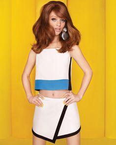 Colorblock Wrap Skirt