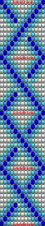Beading pattern Loom Bracelet Patterns, Bead Loom Patterns, Loom Bracelets, Beading Patterns, Beading Projects, Beading Tutorials, Bead Loom Designs, Peyote Beading, Bijoux Diy