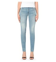 ALEXANDER WANG Wang 001 Slim-Fit High-Rise Jeans. #alexanderwang #cloth #jeans & denim