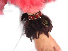 Pulsera para sandalias Ibiza. Etnico y plumas