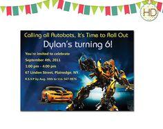 Transformers Invitation Transformer Birthday by HDInvitations