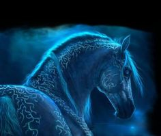 """Hrímfaxi, frost maned horse of Viking myth In Norse mythology, Skinfaxi and Hrímfaxi are the horses of Dagr (day) and Nótt (night). The names Skinfaxi and Hrímfaxi mean """"shining mane"""" and """"rime mane"""" (or """"frost mane""""), respectively. In stanza 14 of the Vafþrúðnismál, the third poem of the Poetic Edda, Odin states that the horse Hrímfaxi """"draws every night to the beneficent gods"""" and that he lets foam from his bit fall every morning, from which dew comes to the valleys."""