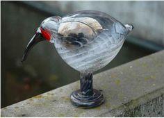 2010, Oiva Toikka, Ibis, Leerdam, unique, experiment/kokeilu Great Names, Glass Birds, Scandinavian Design, Experiment, Glass Art, Gift Ideas, Decoration, Animals, Beautiful