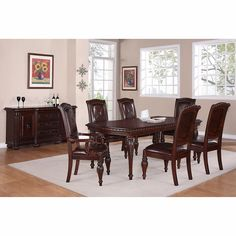 "Addison 8-piece Dining Set with 84"" Table"