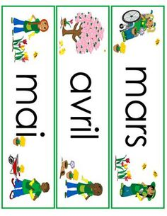 spring month word wall cards in French English Activities, Activities For Kids, Kindergarten Language Arts, Core French, Elementary Spanish, French Classroom, Education Logo, Teaching French, Worksheets For Kids