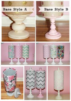 Chevron fabric headband holder and accessory by SCTatteredPetals
