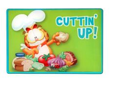 R&D Enterprises/Motorhead Products, GF-61007, 7-3/4-Inch by 11-3/4-Inch Tempered Glass Cutting Board Featuring Garfield By Artist Jim Davis by R&D Enterprises/Motorhead Products. $14.99. Shatter resistant tempered glass. Food safety certified. Hygienic. 7-3/4-Inch by 11-3/4-Inch Tempered Glass Cutting Board Featuring Garfield By Artist Jim Davis. Dishwasher safe. Food safety certified, these 7-3/4 by 11-3/4 glass cutting boards made of hygienic, shatter resistant tempered...