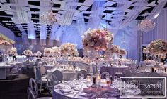 Event Design is an award-winning events company based in Toronto Crystal Candelabra, Event Company, Bat Mitzvah, Corporate Events, Event Design, Wedding Decorations, Ceiling Lights, Crystals, Flowers