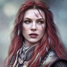 The Custom Portraits Thread Warrior Girl, Fantasy Warrior, Fantasy Rpg, Fantasy Girl, Dark Fantasy, Dnd Characters, Fantasy Characters, Female Characters, Fantasy Character Design