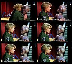 Stargate SG-1 Funny: Carter hugs Thor