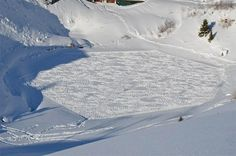 Trampled Snow Art from Simon Beck
