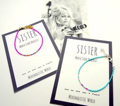 SISTER morse code bracelet - sister gift - sister jewelry - minimalist dainty bracelet - simple adjustable bracelet - friendship bracelet door WorldOfMinimalistic op Etsy https://www.etsy.com/nl/listing/268929959/sister-morse-code-bracelet-sister-gift