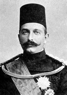 Abbas II Hilmi Bey (Abbas Hilmi Pasha) 1874 – 1944), the last Khedive of Egypt and Sudan 1892 – 1914. He established a sound system of native justice, the great remission of taxation, the reconquest of Sudan, the inauguration of the substantial irrigation works at Aswan, and the increase of cheap, sound education. The United Kingdom declared Egypt an independent Sultanate under British protectorate on 18 December 1914 and deposed Abbas. He died in Geneva 19 December 1944.