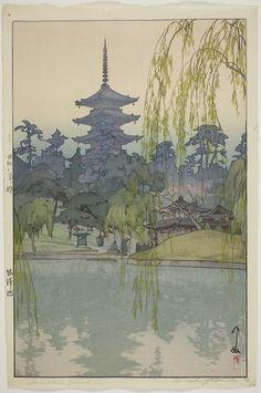 Japanese Art Prints, Japanese Artwork, Japanese Painting, Chinese Artwork, Hiroshi Yoshida, Japon Illustration, Japanese Landscape, Art Japonais, Funky Art