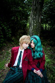 """Sailor Moon S"" - Haruka Tenou and Michiru Kaioh."