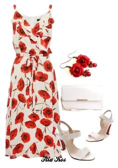 beautiful dress by ria-kos on Polyvore featuring Christian Louboutin
