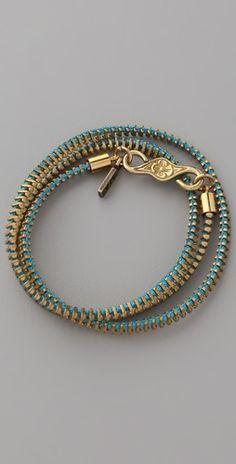 Vanessa Mooney Zip Me Up Small Wrap Bracelet | SHOPBOP