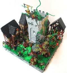 Elemental Attack on Avalonia - lovely Lego castle