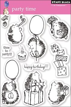 Amazon.com: Penny Black Clear Stamp Set, Party Time: Arts, Crafts & Sewing
