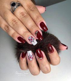 30 Decorated Nail Examples for Winter Diy Nails, Cute Nails, Gorgeous Nails, Pedicure, Nail Art Designs, Acrylic Nails, Nail Polish, Glitter, Beauty
