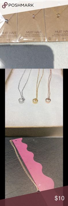 Hollow Circle Necklace Perfect for layering or on its own.  Gold / Rose Gold or Silver must have  Jewelry Necklaces