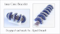 Seed beads and super duo's combine to make this dimensional bracelet.Worked in peyote, right angle weave ,chevron and pondo stitch. Designed and made by Ronel Durandt.