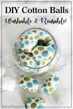 Hi, guys! Today's post is a continuation of the reusable theme, but this time we're replacing Cotton Balls! You can make your own little fabric nuggets that can be used for makeup or skincare, pop them in a mesh bag, and wash them for reuse again and again. Let's get making!