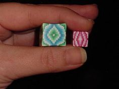 My first attempt at Bargello*** HUGE Bead Making Tutorial Added*** - POTTERY, CERAMICS, POLYMER CLAY