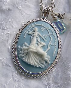 RP: Cameo Necklace - Diana - Artemis - Huntress - Goddess of the Hunt - Forest  | Etsy.com