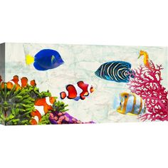 Showcasing a tropical fish motif, this eye-catching giclee print brings coastal charm to your living room or master suite.   Product...