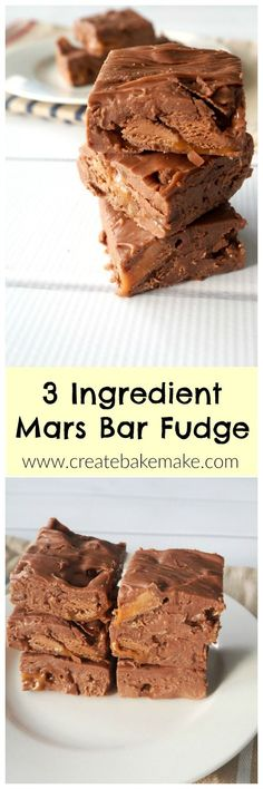 You only need THREE ingredients to make this delicious and oh so easy Mars Bar Fudge! Both regular and thermomix instructions included. Fudge Recipes, Candy Recipes, Sweet Recipes, Dessert Recipes, Yummy Recipes, Salad Recipes, Easy Sweets, Easy Desserts, Delicious Desserts