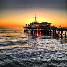 SoCal sunset en Santa Monica Pier - Por LeCachacs