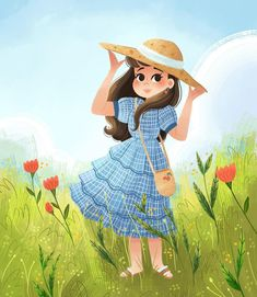 New art finally! Currently obsessed with spring flowers and outfits 🌸 though not at this current moment as my allergies are out of control! More new art on the way soon! I will be posting the speedpaint to this one next week for my patreon 😊 Art And Illustration, Character Illustration, Cartoon Girl Images, Girl Cartoon, Cartoon Art, Poster Rangoli, Whatsapp Dp Images, Cute Love Cartoons, Images Wallpaper